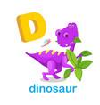isolated alphabet letter d dinosaur
