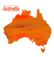 isolated australian map vector image vector image