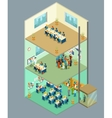Isometric business center 3d office vector image