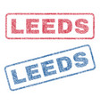 leeds textile stamps vector image vector image