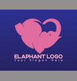 love elephant vector image