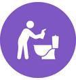 man cleaning bathroom vector image vector image