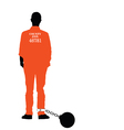 man in jail in colorful vector image