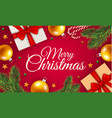 merry christmas gift box concept background vector image
