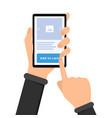 mobile shopping e commerce vector image