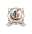 monogram logo designs classic monogram - coffee vector image