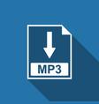 mp3 file document icon download mp3 button icon vector image vector image