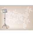 Music stand Brown Background vector image
