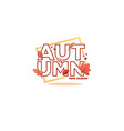new season autumn lettering composition in doodle vector image vector image