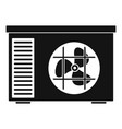 outdoor air unit conditioner icon simple style vector image vector image