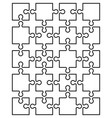 parts of white puzzle vector image vector image