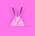 pink rabbit easter symbol on pink background vector image vector image