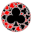 Poker playing cards suit mosaic vector image vector image