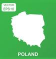 poland map icon business concept poland pictogram vector image vector image