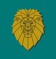 polygonal emblem middle age lion vector image
