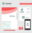 presentation chart business logo file cover vector image vector image