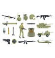 professional army infantry forces weapons vector image vector image