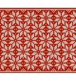 Red and white knitted snowflakes seamless pattern vector image vector image