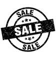 sale round grunge black stamp vector image vector image
