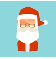 Santa Claus flat icon avatar vector image vector image