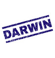 Scratched textured darwin stamp seal