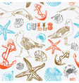 Sea Coast Pattern Background vector image vector image