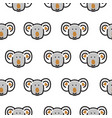 seamless pattern with cute koala bear heads vector image vector image