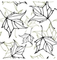Seamless pattern with falling leaves vector image vector image