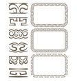 set of elegant borders and frames vector image