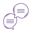speech bubble dialogue conversation message vector image