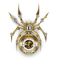 spider with clock vector image vector image