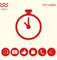 stopwatch icon symbol vector image