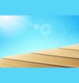 sunlight beams near wooden pier vector image vector image