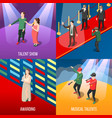 talents and awards isometric concept vector image vector image