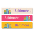the baltimore banner vector image