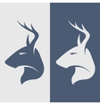 The deer symbol logo icon vector image