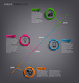 Time line info graphic with round pointers vector image vector image