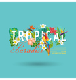 Tropical Bird and Flowers Graphic Design vector image vector image