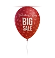 Valentines Day Balloon with Hearts Pattern vector image vector image