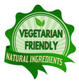 vegetarian friendly label or sticker vector image vector image