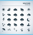 weather web icons set silhouette art vector image