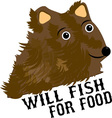 Will Fish For Food vector image vector image