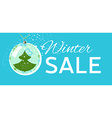 Winter sale tag Christmas New Year price card Ball vector image