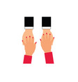 woman and man hands vector image vector image