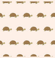 seamless pattern with cute cartoon turtle vector image