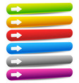 3d buttons banners in perspective with arrows vector image vector image