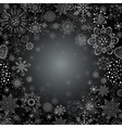 Abstract snowflake of geometric shapes vector image