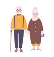 adorable elderly married couple old man and woman vector image vector image