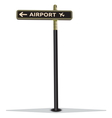 Airport street sign vector image vector image