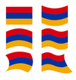 Armenia flag Set of flags of Armenian Republic in vector image vector image